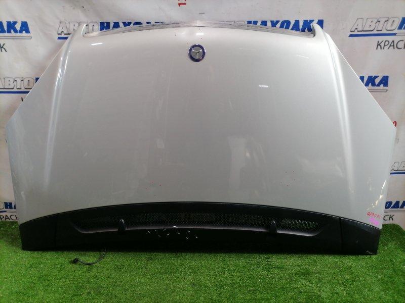 Капот Mercedes-Benz A170 169.032 266.940 2004 передний цвет: 761U, с ветровой панелью (трещина), есть 3