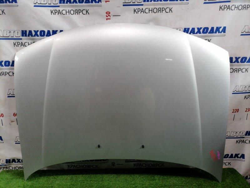 Капот Mazda Familia BHALP Z5-DE 1994 передний Седан, цвет: 3L, есть дефект ЛКП (вздутие), потертости