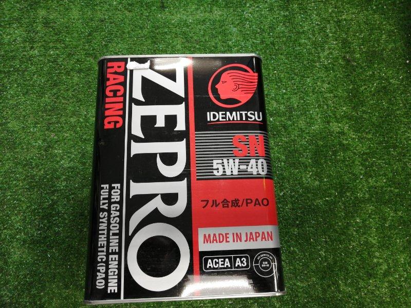 Масло моторное IDEMITSU Zepro Racing 5W40 SN 4л