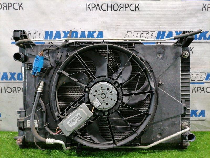 Радиатор двигателя Mercedes-Benz A170 169.032 266.940 2004 под АКПП, с диффузором и вентилятором +