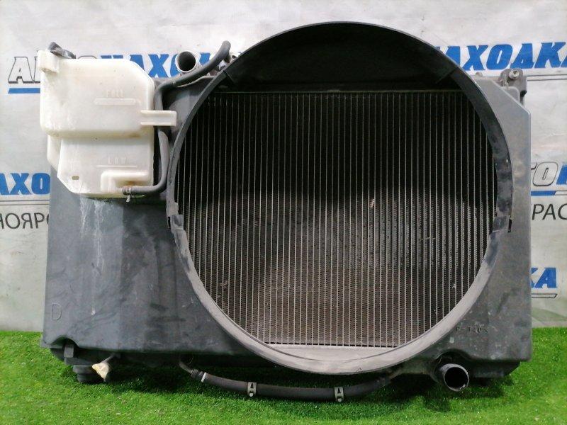 Радиатор двигателя Toyota Mark Ii GX100 1G-FE 1996 A/T, с дифузором и расширительным бачком,