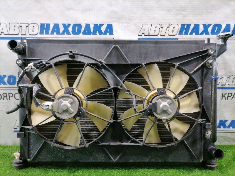 Радиатор двигателя Toyota Opa ZCT10 1ZZ-FE 2000 под АКПП, с диффузором и вентилятором, с