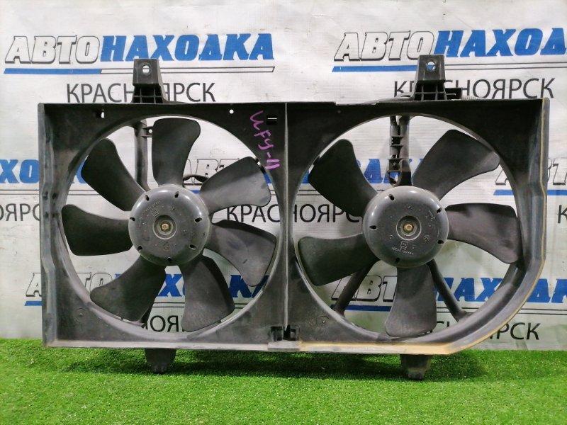 Вентилятор радиатора Nissan Wingroad WFY11 QG15DE 2001 Два вентилятора с диффузором.