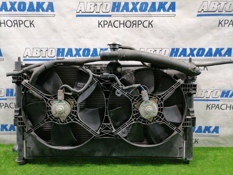 Радиатор двигателя Mitsubishi Lancer CY4A 4B11 2007 под CVT, с дифузором и вентиляторами