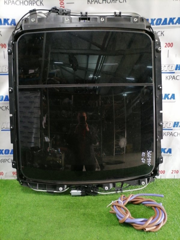 Люк Volvo Xc60 DZ99 B6304T2 2008 электрический сдвижной в сборе: размер стекла 944мм*863мм, со