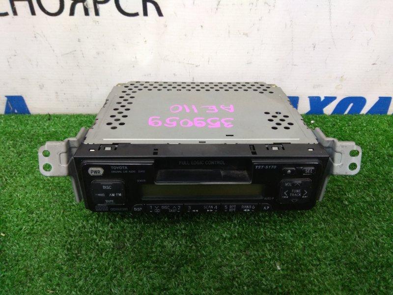 Магнитола Toyota Corolla AE110 5A-FE 1997 штатная магнитола TOYOTA TST-5170, 1DIN, кассета, радио