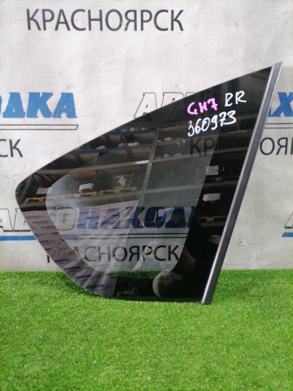 Стекло собачника Subaru Impreza GH7 EJ20 2007 заднее правое Заднее правое, заводская тонировка, с