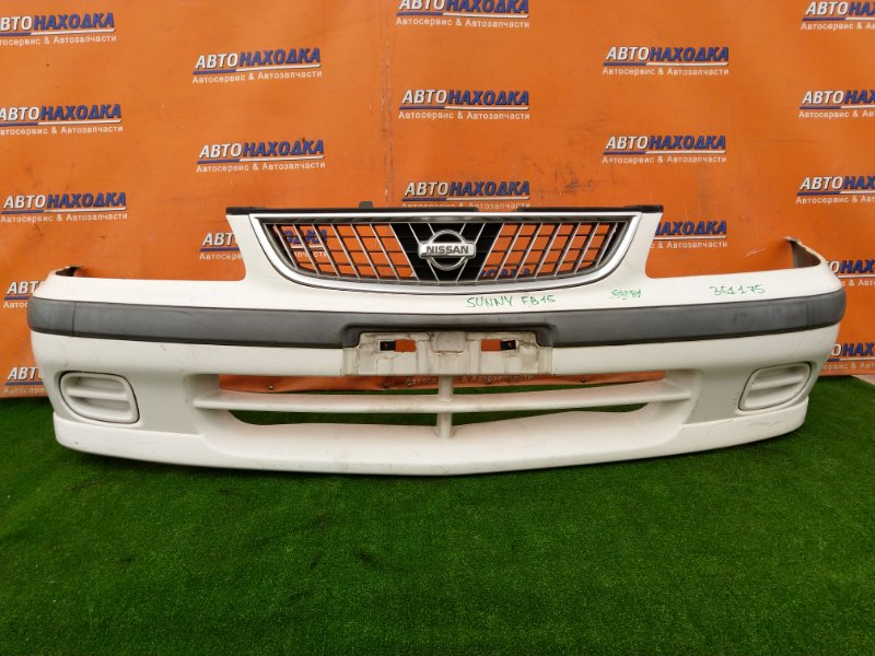Бампер Nissan Sunny FB15 QG15DE 03.2002 передний 62022-4M440 1MOD. ДО РЕСТАЙЛИНГ. +РЕШЕТА. ХТС.
