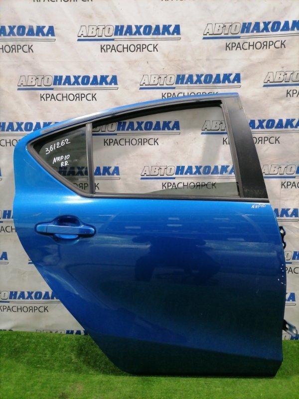 Дверь Toyota Aqua NHP10 1NZ-FXE 2011 задняя правая Задняя правая, в сборе. Есть пара вмятинок,