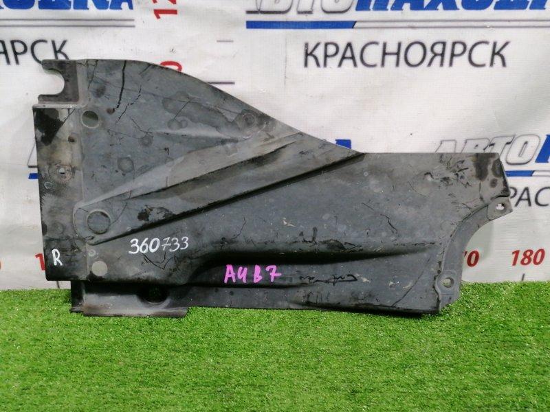 Защита Audi A4 B7 BFB 2004 задняя правая защита днища, правая задняя