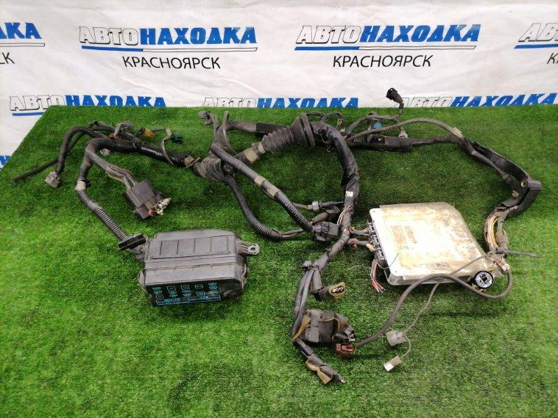Проводка двс Toyota Sprinter AE91 5A-FE 1987 подкапотная коса с блоком предохранителей + комп