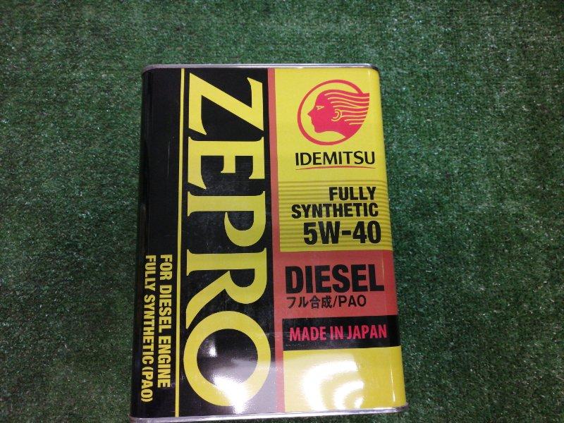 Масло моторное IDEMITSU Zepro Diesel 5W40 F-S CF 4л