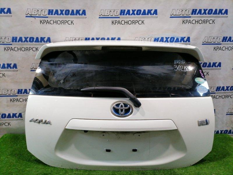 Дверь задняя Toyota Aqua NHP10 1NZ-FXE 2011 задняя в сборе, со спойлером, камерой З/Х, цвет 082. Есть