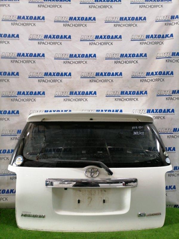 Дверь задняя Toyota Corolla Rumion NZE151N 1NZ-FE 2007 задняя в сборе, со спойлером, камерой З/Х. Есть