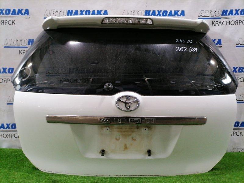 Дверь задняя Toyota Wish ZNE10G 1ZZ-FE 2003 задняя Задняя в сборе (кроме щетки), цвет 070. Есть