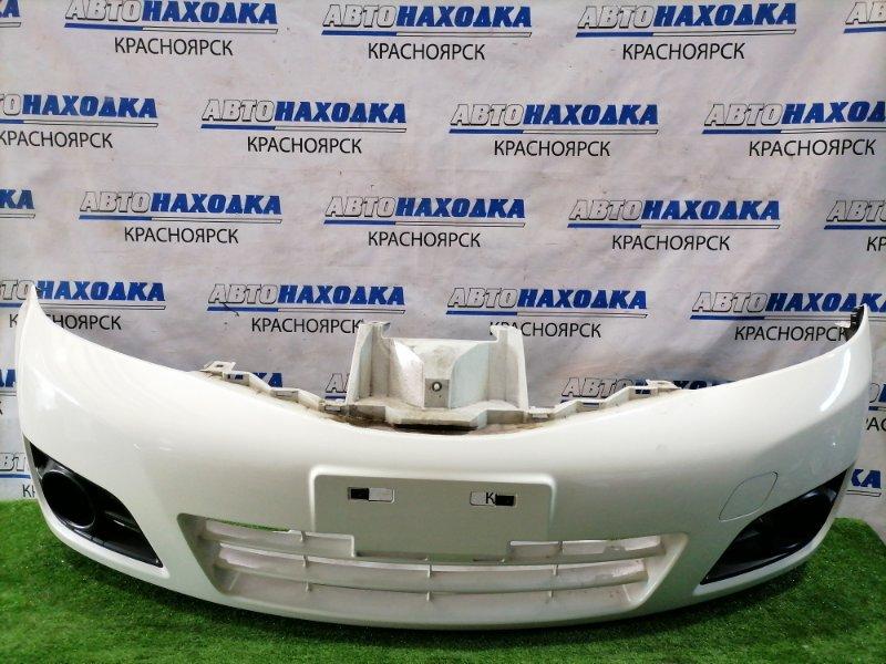 Бампер Nissan Note E11 HR15DE 2008 передний передний, рестайлинг (2 мод.), с заглушками. Есть