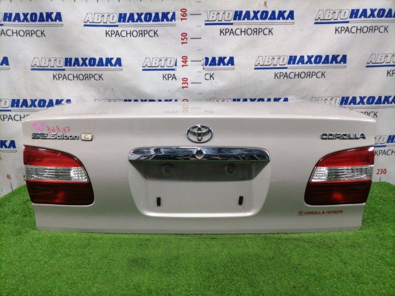 Крышка багажника Toyota Corolla AE110 5A-FE 1997 задняя В сборе, цвет: 1A5, с фонарями 12-443, есть