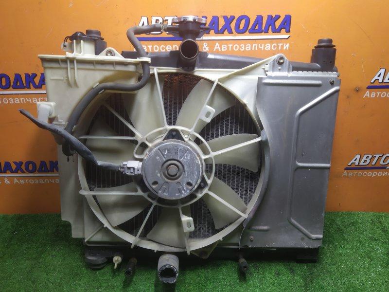 Радиатор двигателя Toyota Vitz SCP10 1SZ-FE 02.2000 С ТРУБКАМИ ОХЛАЖДЕНИЯ. С ДИФФУЗОРОМ