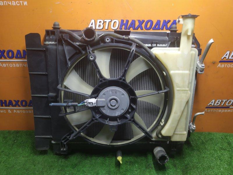 Радиатор двигателя Toyota Ractis NCP100 1NZ-FE БЕЗ ТРУБОК ОХЛАЖДЕНИЯ. С ДИФФУЗОРОМ. +РАДИАТОР