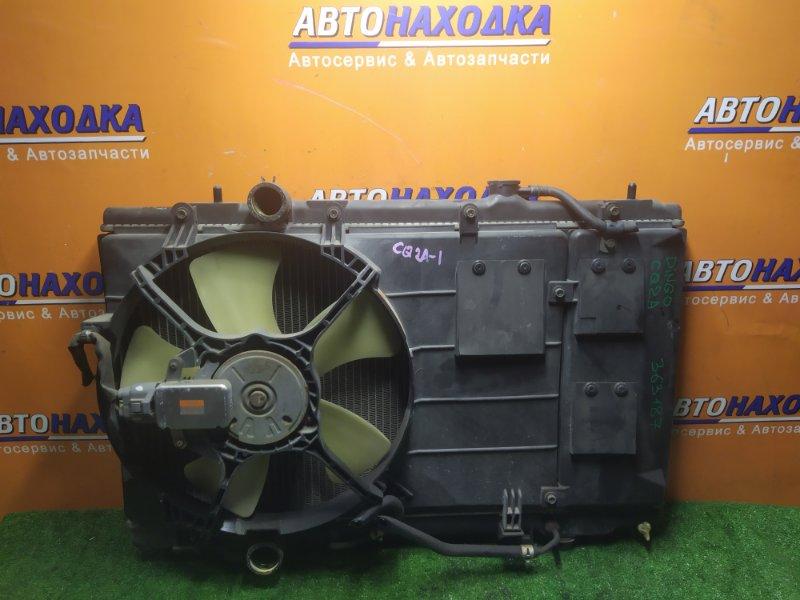 Радиатор двигателя Mitsubishi Mirage Dingo CQ2A 4G15 01.03.2000 С ТРУБКАМИ ОХЛАЖДЕНИЯ. С ДИФФУЗОРОМ