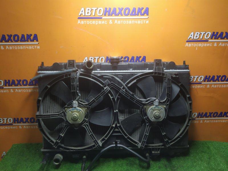Радиатор двигателя Nissan Wingroad Y11 QG15DE АВТОМАТ. В СБОРЕ С ДИФФУЗОРОМ..