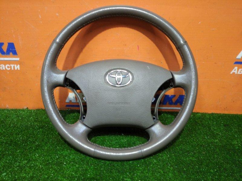 Руль Toyota Ipsum ACM21W 2AZ-FE 2003 4 спицы+airbag без заряда/без кнопок