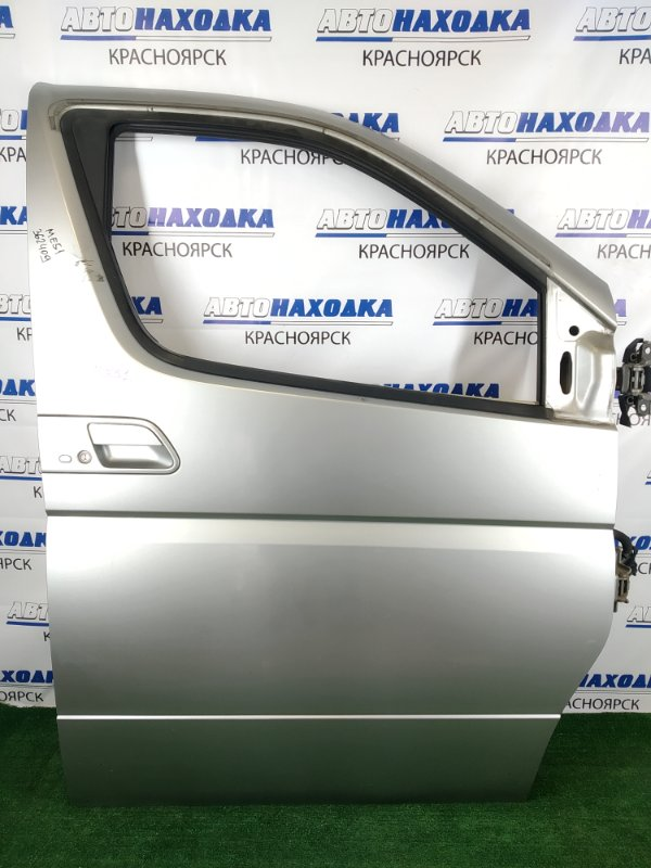 Дверь Nissan Elgrand ME51 VQ25DE 2002 передняя правая передняя правая, серебристая (KY0), без стекла,