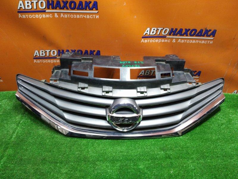 Решетка радиатора Nissan Note E12 HR12DDR передняя 62310-3VA0A БЕЗ ВЕРХНЕЙ НАКЛАДКИ