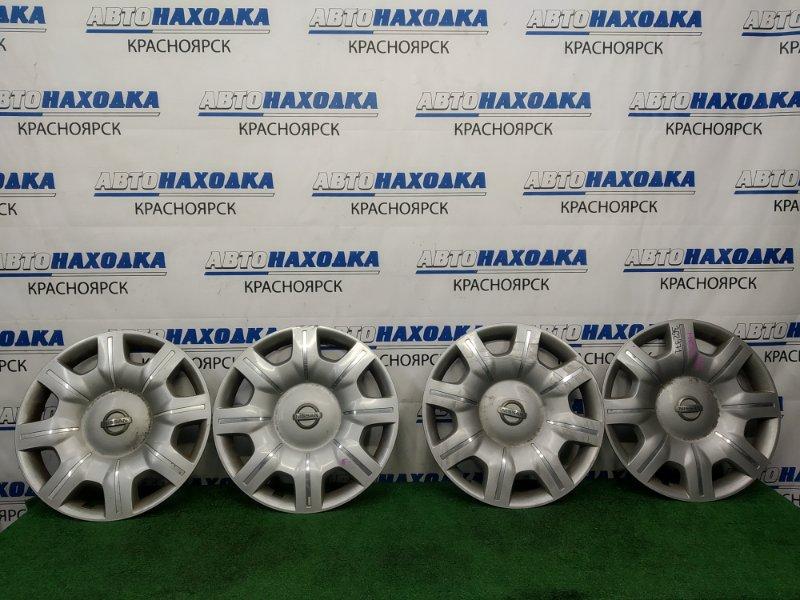 Колпаки колесные Nissan Elgrand ME51 VQ25DE 2002 Комплект 4 шт. Оригинал, R16, есть потертости,