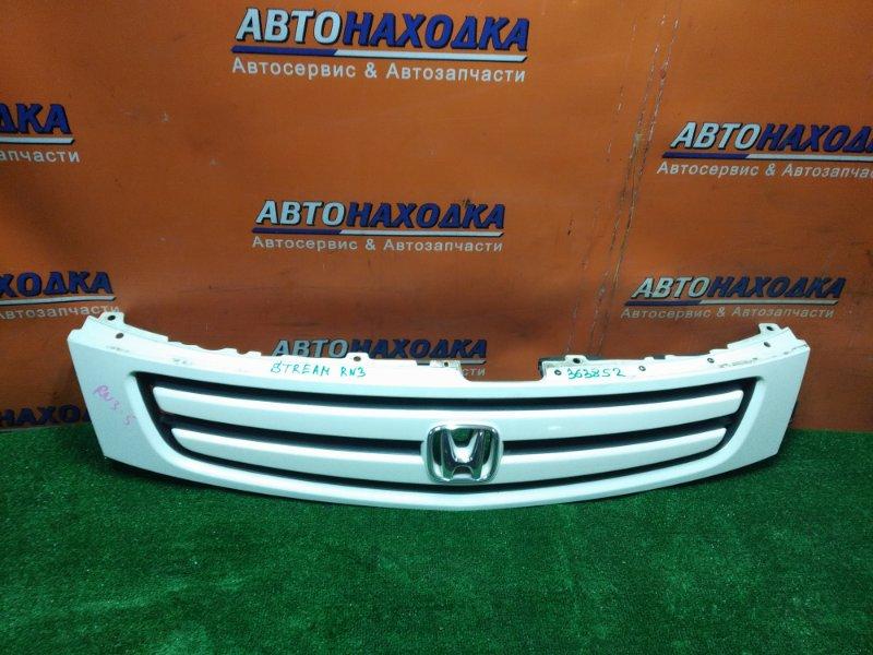 Решетка радиатора Honda Stream RN3 K20A 2002 1MOD. ЛЕВЫЙ КРОНШТЕЙН СЛОМАН