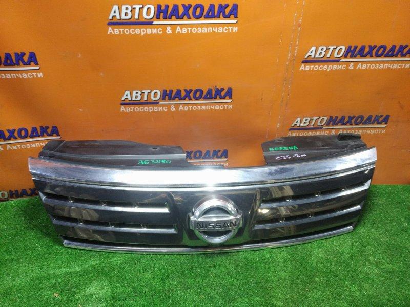 Решетка радиатора Nissan Serena C25 MR20DE передняя 62310-1GK0A +КАМЕРА, небольшая трещина смотреть