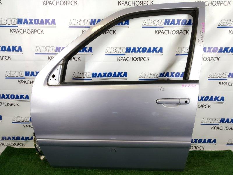 Дверь Toyota Raum EXZ10 5E-FE 1997 передняя левая передняя левая, фиолетовая, без личинки,