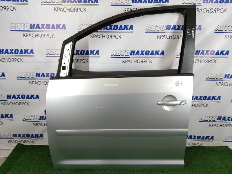 Дверь Volkswagen Touran 1T1 BLR 2003 передняя левая ХТС, передняя левая, серебристая (8E / A7W), без