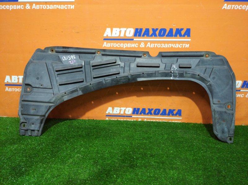 Защита Nissan Wingroad Y12 HR15DE 2005 передняя дефект