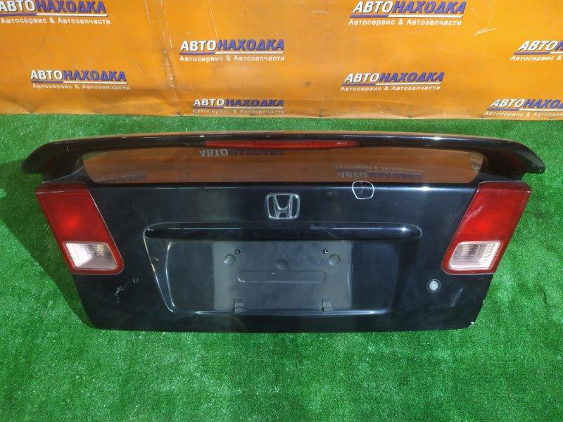 Крышка багажника Honda Civic ES3 D17A 2002 P0856 У ФОНАРЕЙ ОТЛОМАНЫ КРЕПЛЕНИЯ. +СПОЙЛЕР. RS
