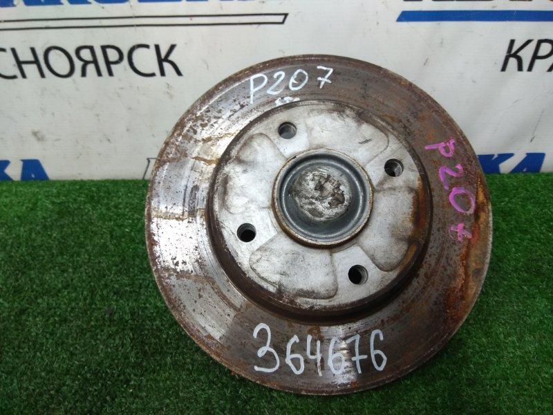 Ступица Peugeot 207 WC EP6C 2009 задняя ХТС, задняя, с диском, пробег 32 т.км.