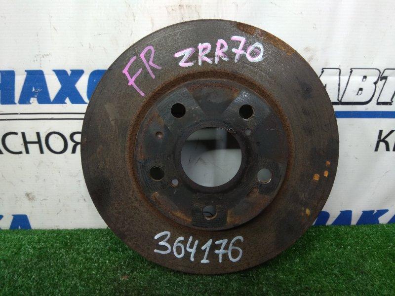 Диск тормозной Toyota Voxy ZRR70G 3ZR-FE 2007 передний передний, вентилируемый, диаметр 275 мм
