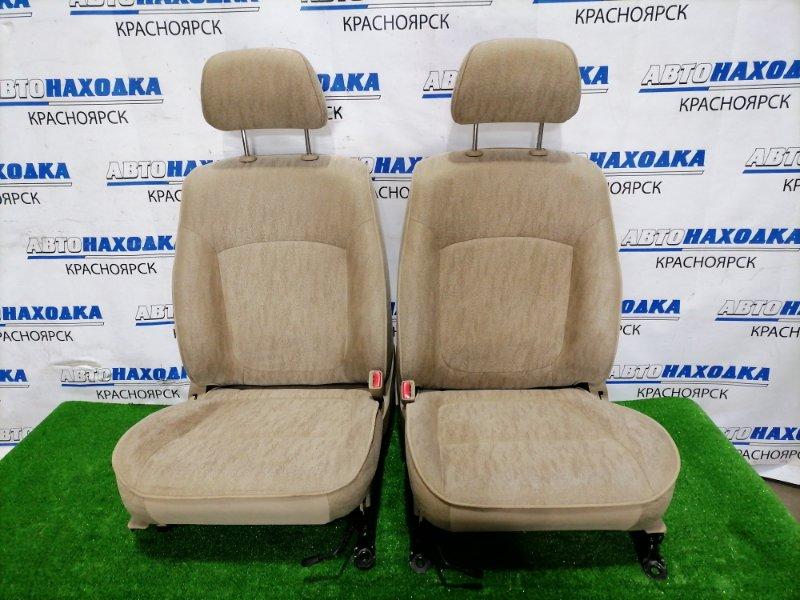 Сиденья Nissan Bluebird Sylphy FG10 QG15DE 2003 передняя Передние пара, оба сидения в ХТС, бежевая