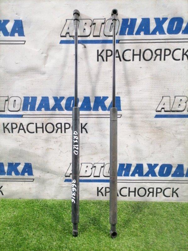 Амортизатор капота Toyota Mark X GRX120 4GR-FSE 2004 передний 53440-0W080 пара L+R