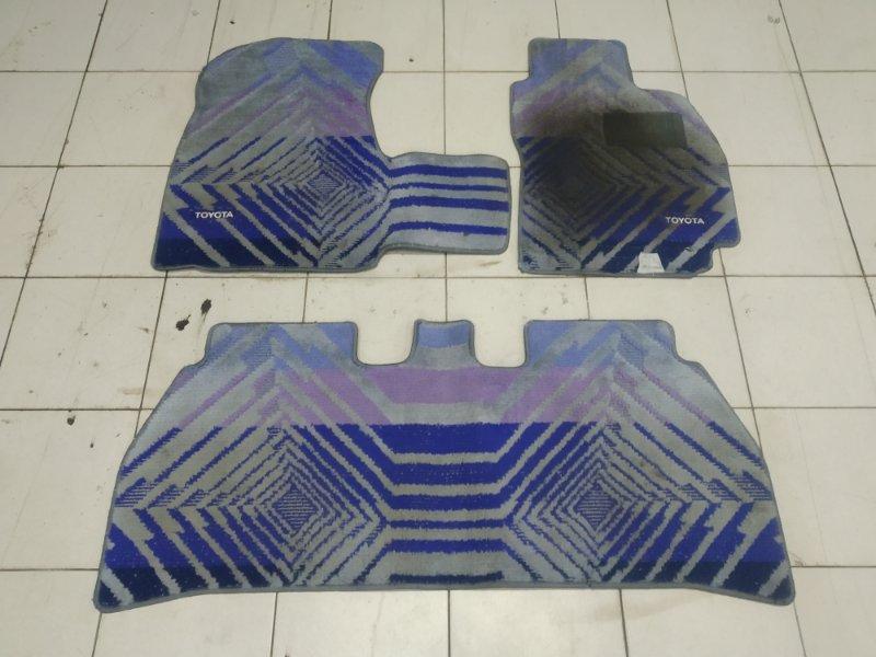 Коврик Toyota Raum EXZ10 5E-FE 1997 комплект 3 штуки (без перемычки), синие