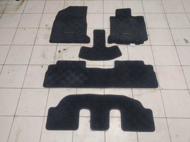 Коврик Toyota Wish ZNE10G 1ZZ-FE 2005 комплект 5 штук, на три ряда сидений, черные