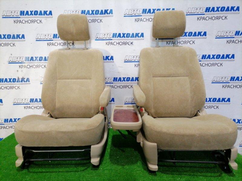 Сиденья Toyota Ipsum ACM26W 2AZ-FE 2001 передняя Передние пара, оба сидения в ХТС, бежевая ткань, Trim