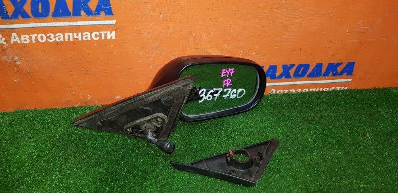 Зеркало Honda Partner EY7 D15B 1996 переднее правое механическое +внутренний уголок