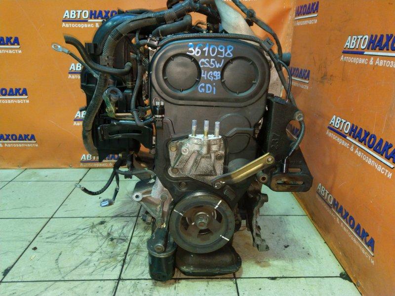 Двигатель Mitsubishi Lancer Cedia CS5W 4G93 03.12.2002 PL9192 105Т.КМ. БЕЗ НАВЕСНОГО. ТНВД MD367149, 4G93-G-S9