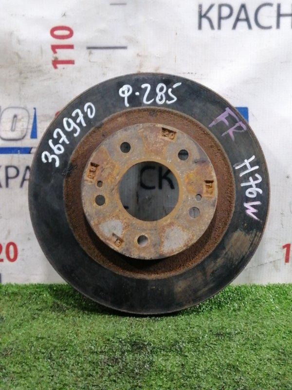 Диск тормозной Mitsubishi Pajero Io H76W 4G93 1998 передний Передний, вентилируемый, диаметр 285 мм