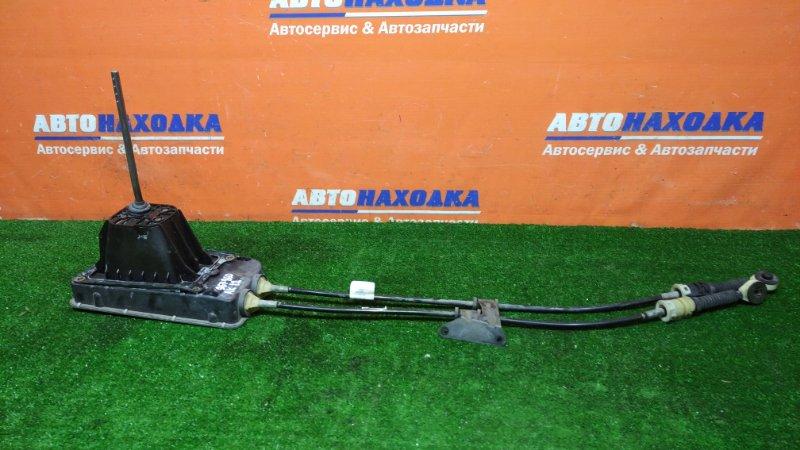 Рычаг переключения кпп Nissan March AK12 CR12DE 2002 МКПП+тросы 2шт
