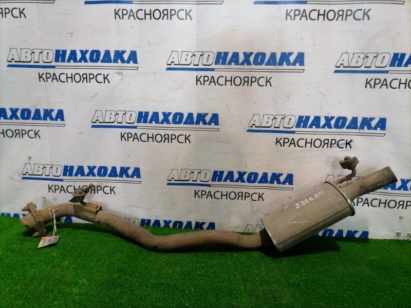 Глушитель Mazda Mpv LW5W GY Задняя бочка + ответный фланец отрезан от средней части.
