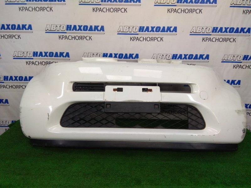 Бампер Honda Life JB5 P07A 2003 передний передний, белый, 1 модель (дорестайлинг), вмятинка,