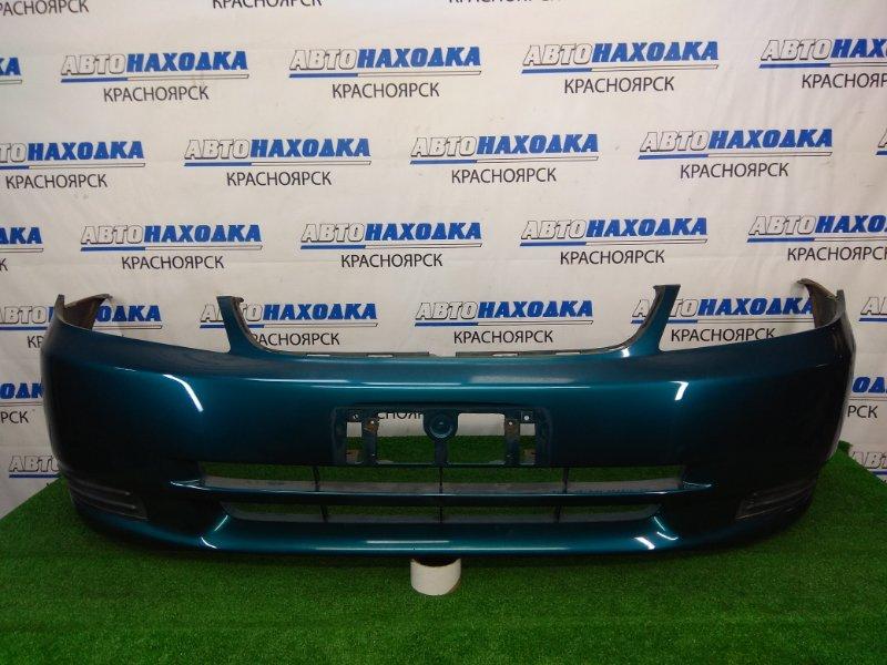 Бампер Toyota Corolla Fielder NZE121G 1NZ-FE 2000 передний передний, бирюзовый (769), дорестайлинг, с
