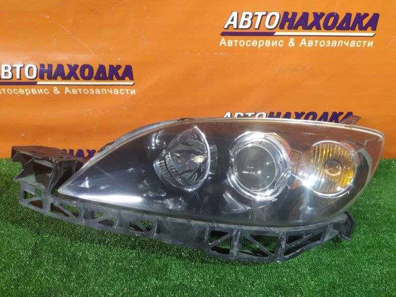 Фара Mazda Axela BK5P ZY-VE передняя левая P2951 ГАЛОГЕН, +ПЛАНКА, ХЭТЧБЭК